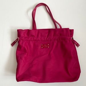 Kate Spade Large Lana Pink Berry Tote Bag Purse